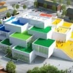 Drone Footage Shows BIG's LEGO House takes shape in Denmark