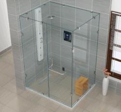 Jaquar shower enclosure – frameless IARA series   Bathroom cabin
