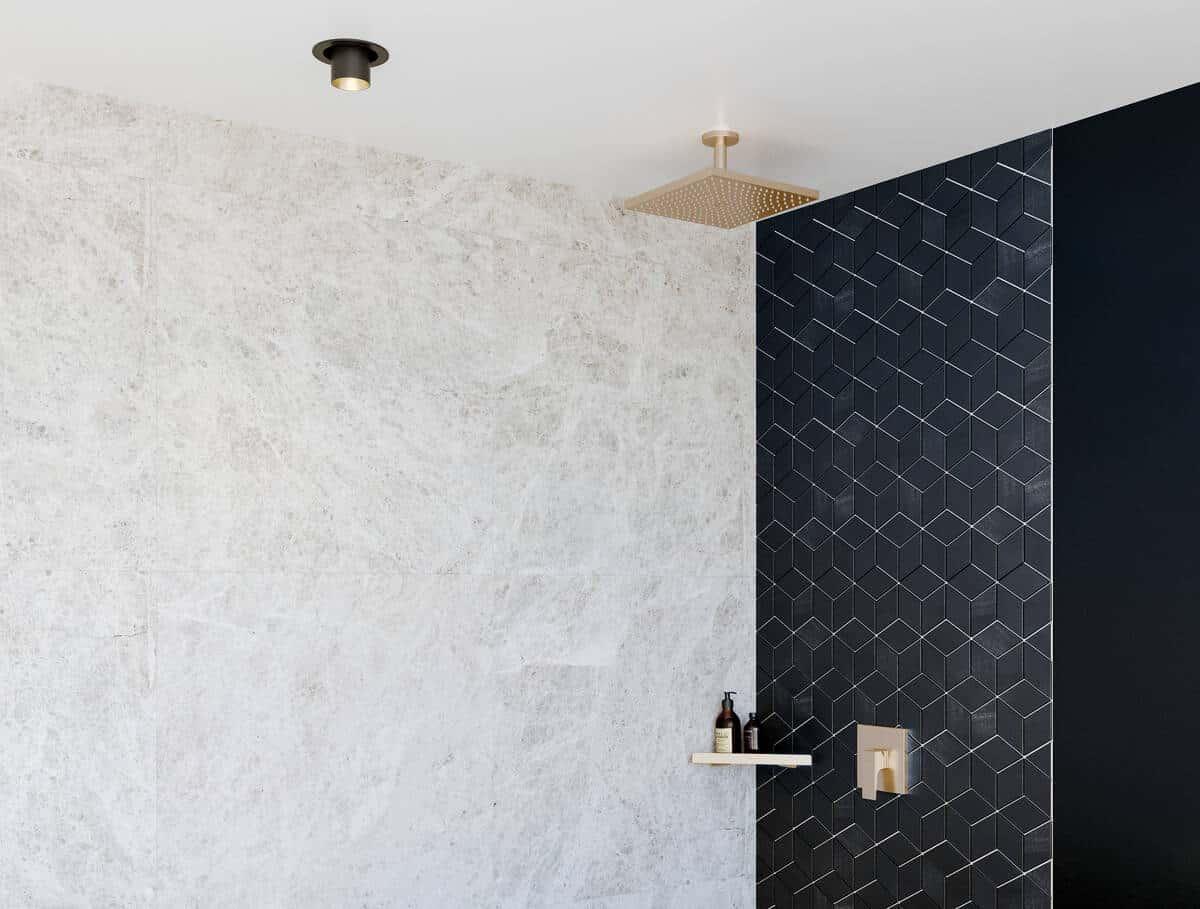ansgrohe showers - Raindance E overhead wall shower, brushed bronze finish