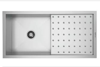 Carysil Quadro Polo  40 x 20 x 8 Stainless Steel Sink