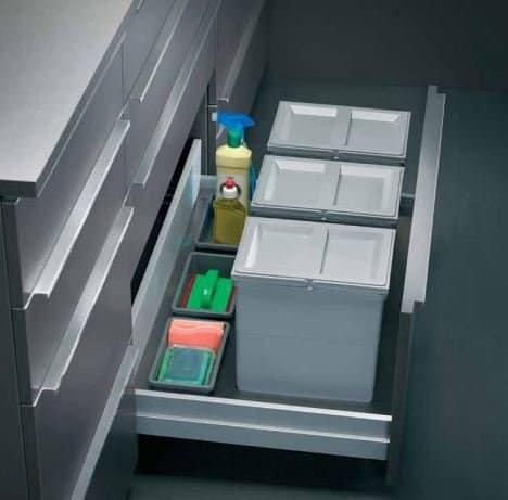 Saviesa SavvyTech SS Below Sink Dustbin Organiser