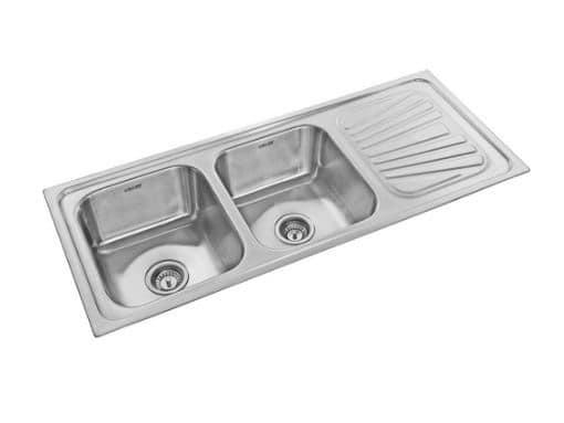 Neelkanth Die Pressed Inset Double Bowl Kitchen Sink