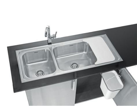 Neelkanth Double Bowl Sink With System