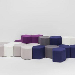 Mdd Bazalto Upholstered Eco-Leather Pouf with Fire Retardant Padding 1