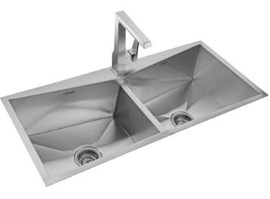 Neelkanth Taper Double Bowl Designer Sink