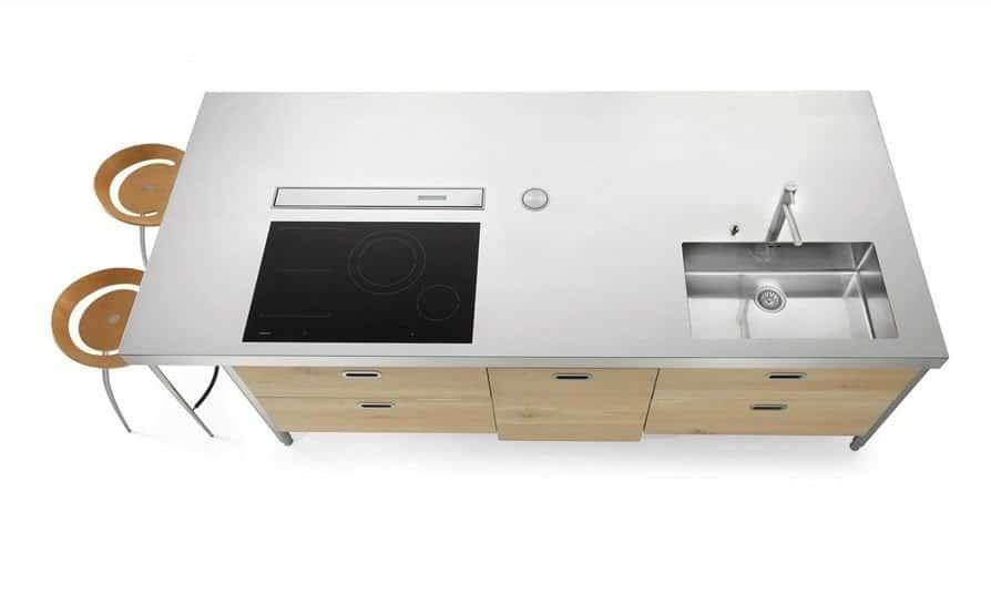 Alpes-Inox ISOLA LC 280 Snack Freestanding Stainless Steel Kitchen