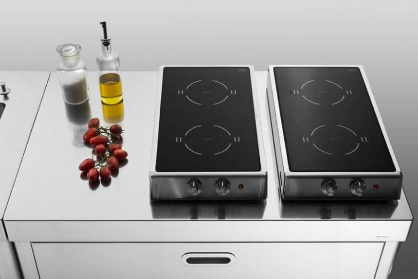 ALPES-INOX Induction Folding Stainless Steel Hob