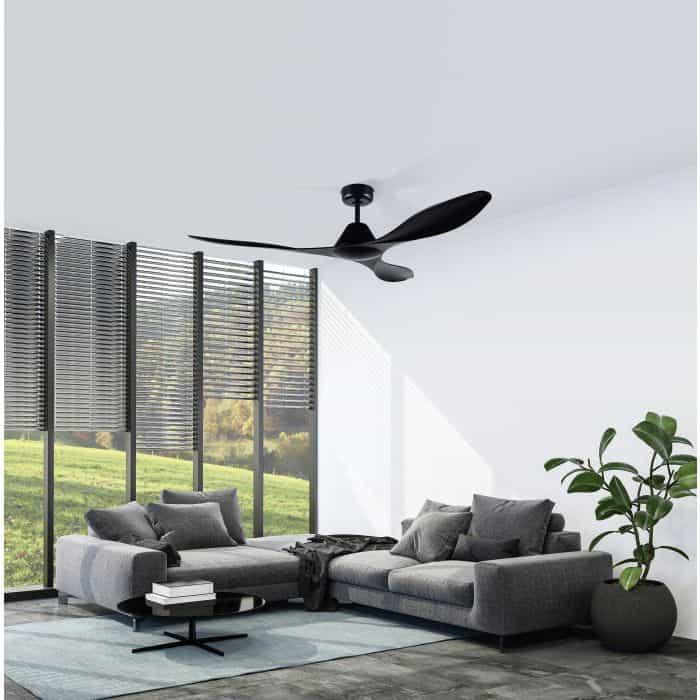 Eglo Antibes, ceiling fan, roof fan, room fan, black fan, living room fan