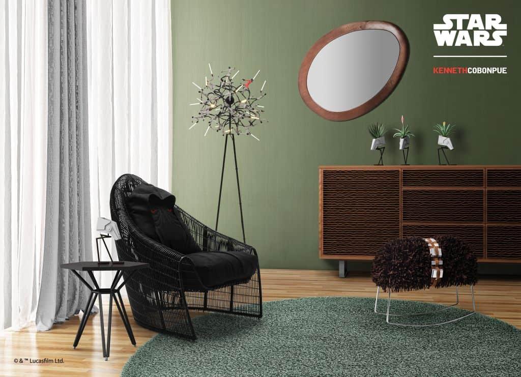 Rattan furniture design ideas-Black - Starwar-Chair- Sidious_Setting