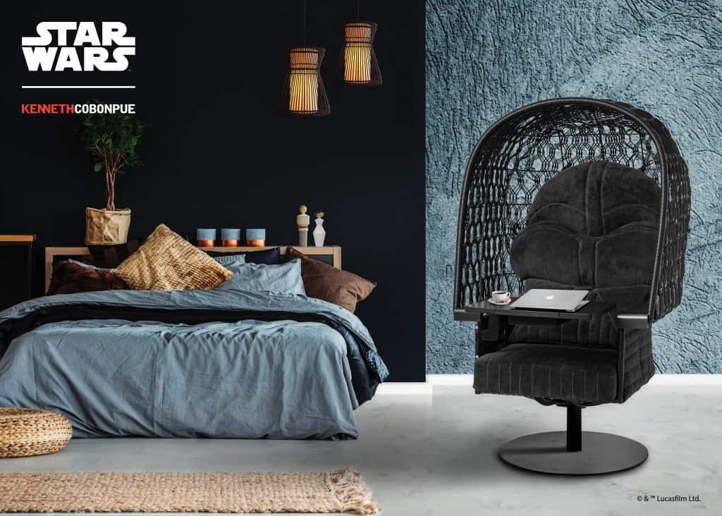 Rattan furniture design ideas-Black - Starwar - Chair- Vader_Setting