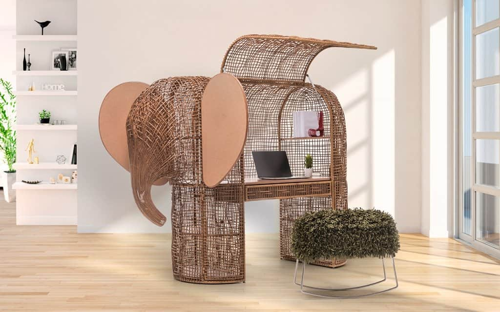 Rattan furniture design ideas- Brown elephant cabinet -Babar_Setting_SiHli0x