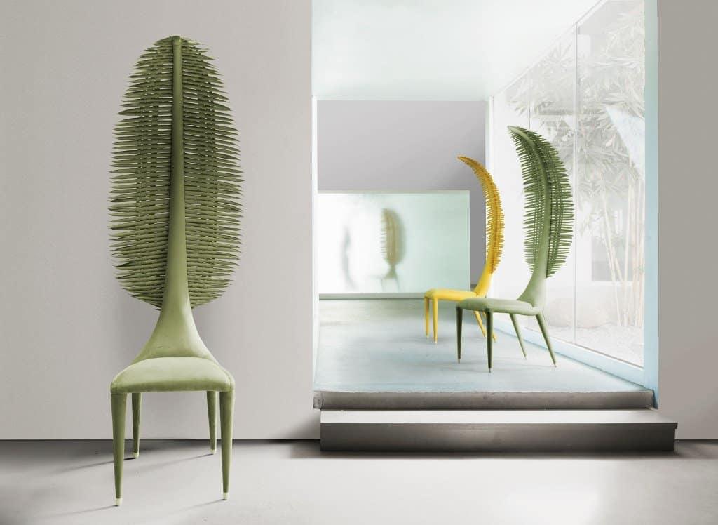 Rattan furniture design ideas- Green - chairs-Yellow-Zaza-Setting-web