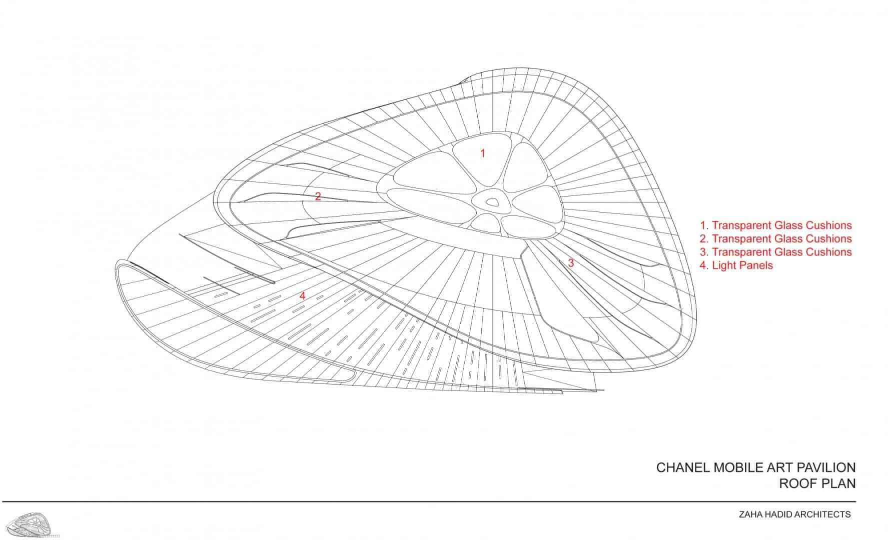 Zaha Hadid Design - Mobile Art Chanel Pavilion - drawings2