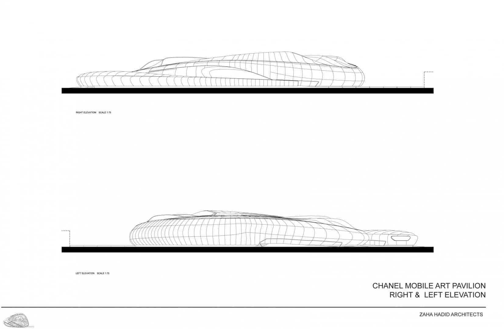 Zaha Hadid Design - Mobile Art Chanel Pavilion - drawings4