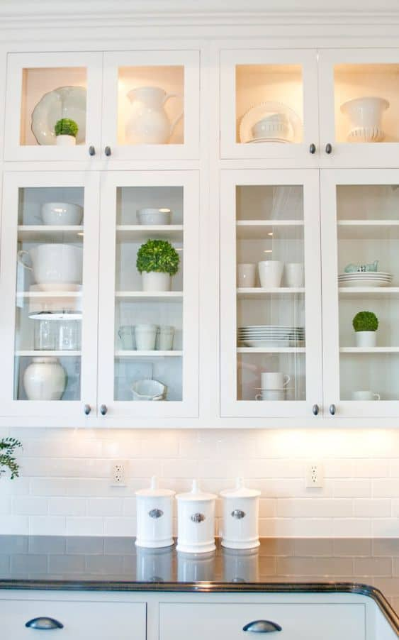 glass cabinets for kitchen remodeling