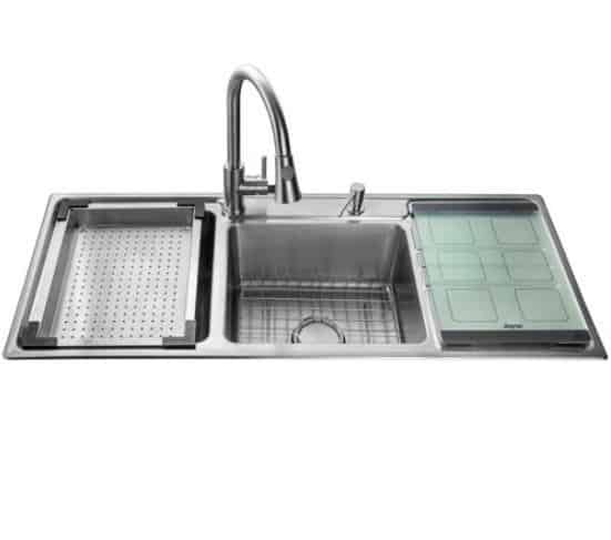Jayna CICS –11 Single Bowl Sink With Veg Bowl & Drain Board