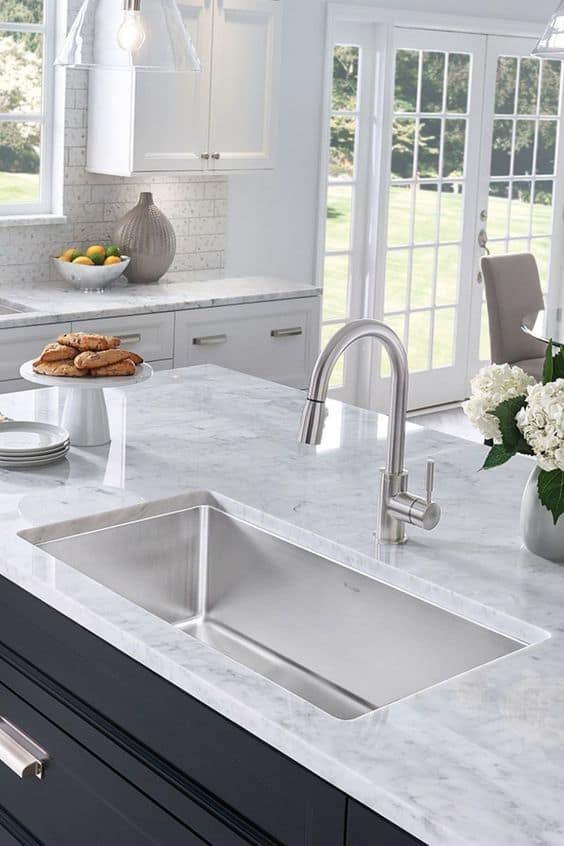 undermount sink for a marble countertop