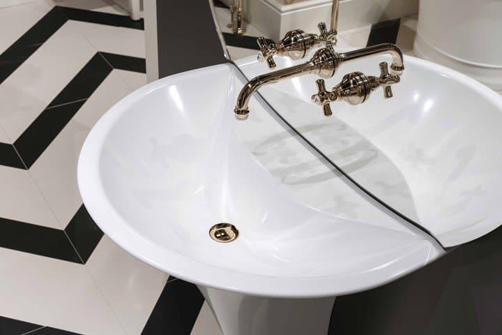 Cersaie 2019 top products - Pedestal white tec washbasin_KALOS-Devon & Devon-j_72600_01