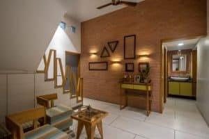 Old Bungalow Renovation - interiors-Brick Wall - 6