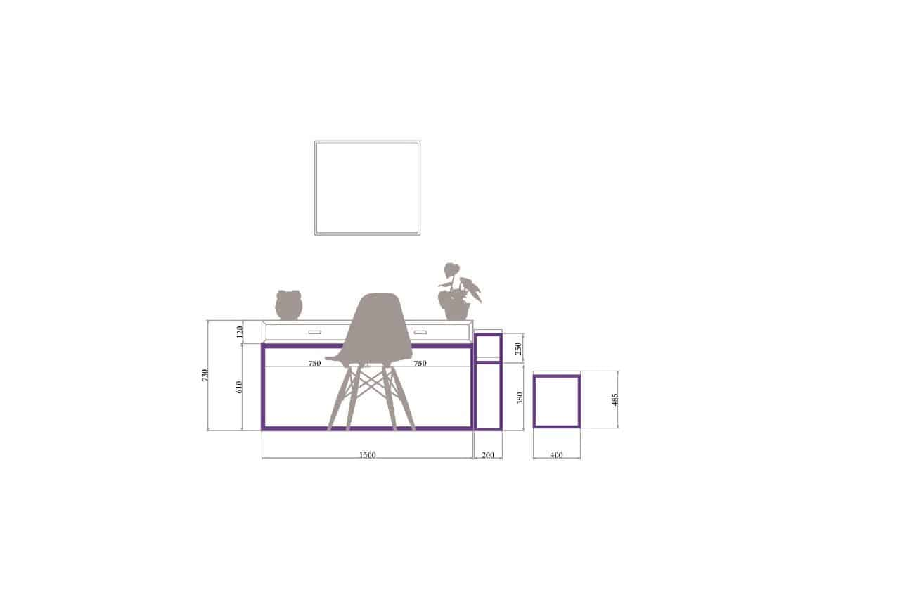 Rod Furniture - Savvy Cube - Connectors -study_table_outline