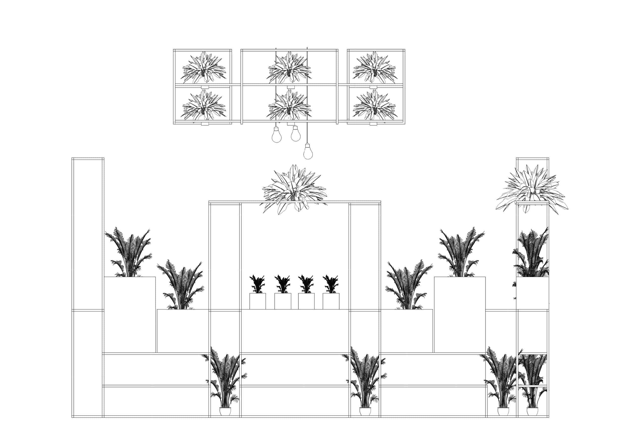 Rod Furniture - Savvy Cube -ceiling_frame_outline