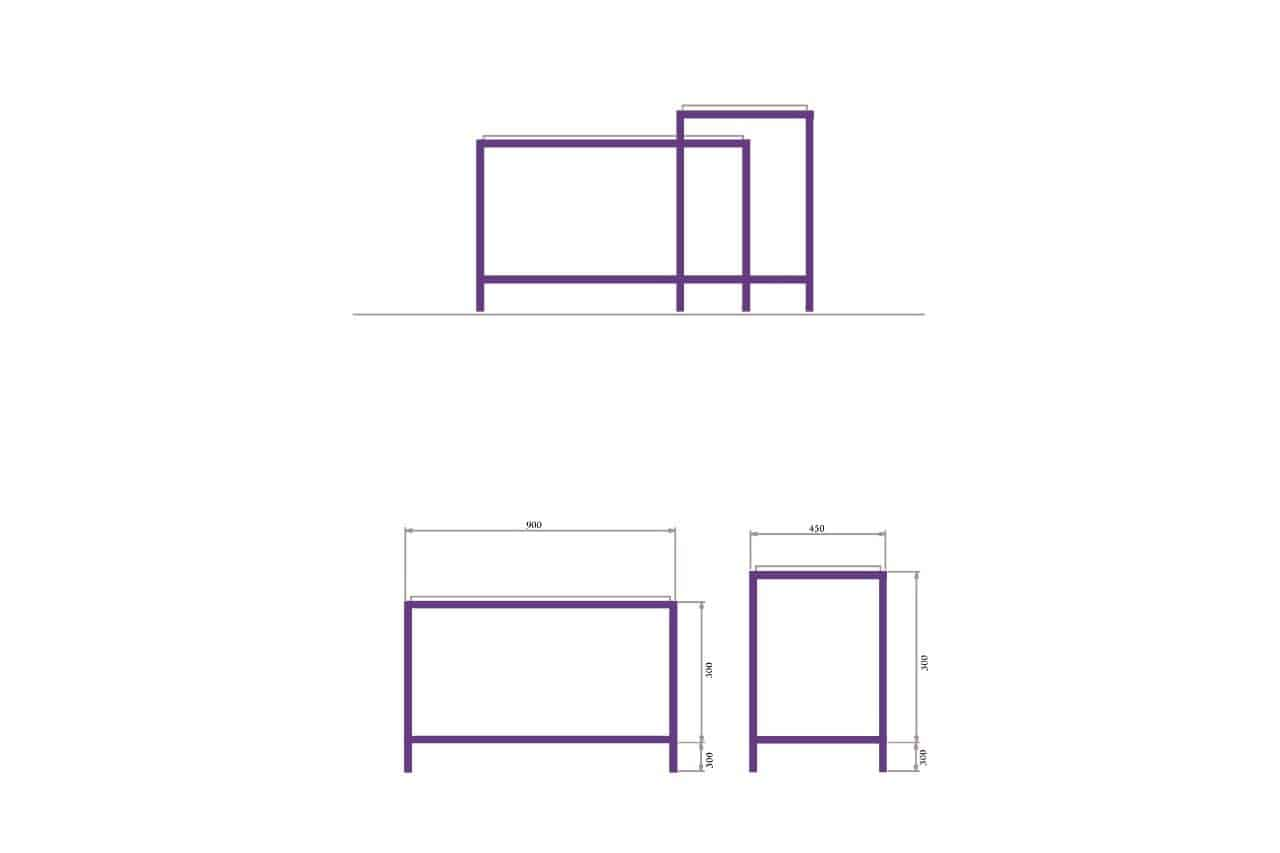 Rod Furniture - Savvy Cube -centre_table_outline