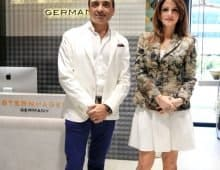 Sternhagen -Rose Gold Premium Bathroom Fittings- launch - Mr.Chirag Parekh,CMD-Acrysil Group & Sussanne Khan-Celebrity Interior Designer
