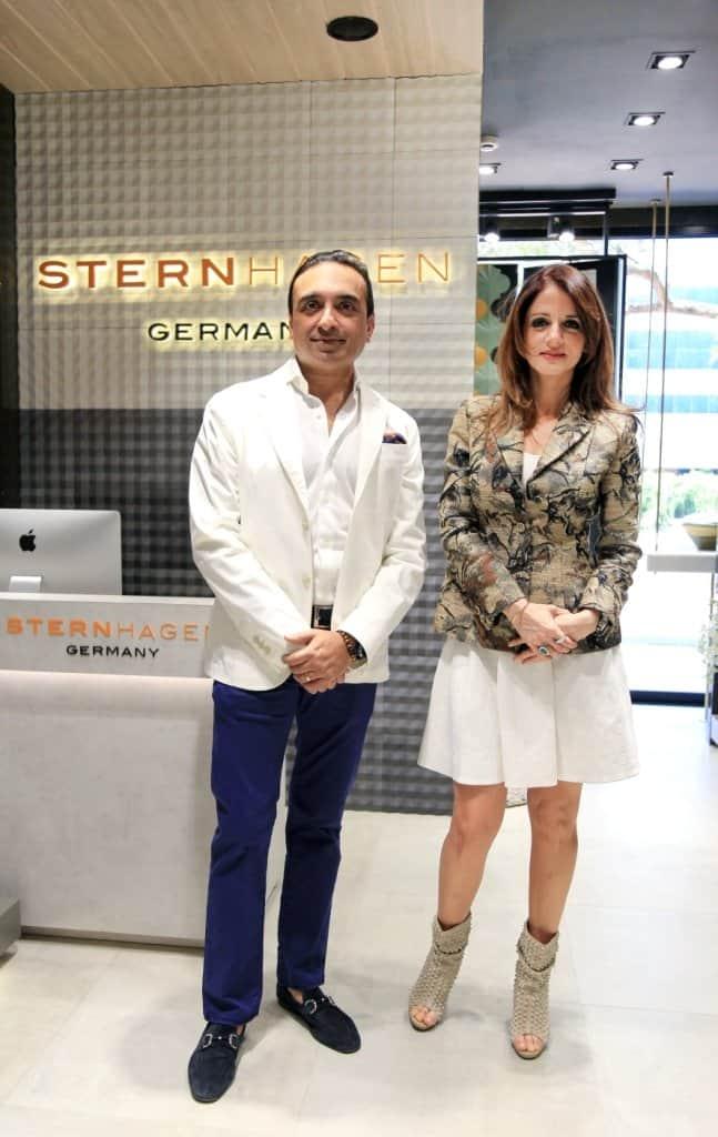 Sternhagen -Rose Gold Premium Bathroom Fittings- launch - Mr.Chirag Parekh,CMD-Acrysil Group&Sussanne Khan-Celebrity Interior Designer