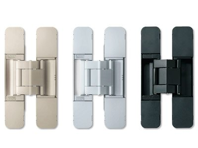 Sugatsune 3-way adjustable concealed hinges -Dull Chrome -hes3d120