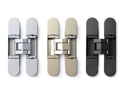 Sugatsune 3-way adjustable concealed hinges - Dull Chrome -hes3d90