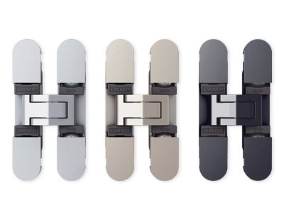 Sugatsune 3-way adjustable concealed hinges - dull chrome - hes3d70