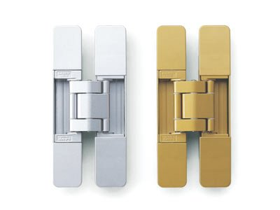 Sugatsune 3-way adjustable concealed hinges - gold - hes3d160