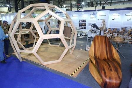 Western Hemlock Wood - Canadian Wood - Geodesic design Pergola - Mumbai wood 2019 - 3