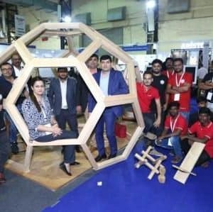 Truly Inspirational Applications In Western Hemlock Wood Showcased by Canadian Wood At Mumbai Wood 2019