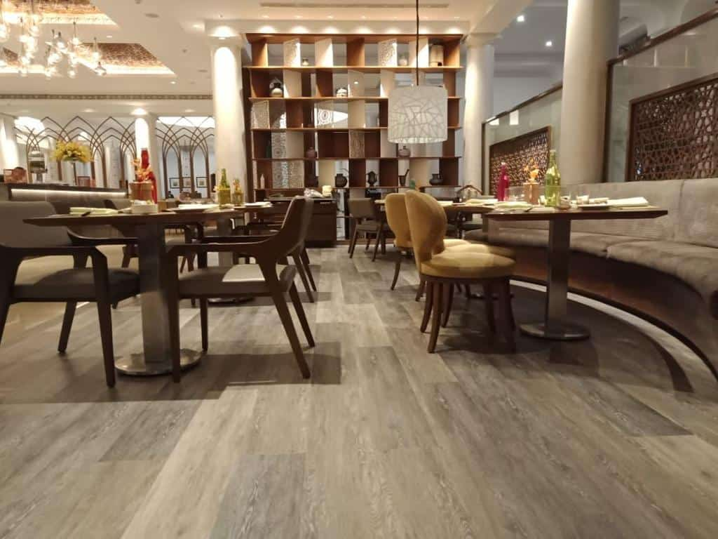 Taj-Mahal-Hotel-Lucknow-Sahib-Cafe-IMPACT-hard-Interlocking-Luxury-Vinyl-Tiles-Responsive-Industries