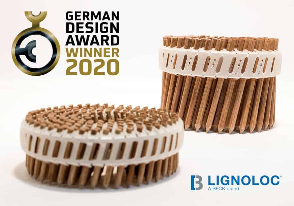 lignoloc collated wooden nails system-LIGNOLOC_Winner_of_German_Design_Award_2020_RGB_300dpi