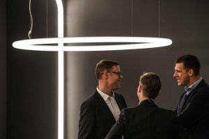 Functional Aesthetics in Lighting Design – when the focus is more on light beams than on the fixture itself.