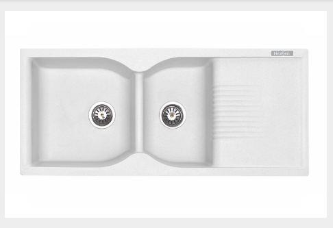 Nexgen QI – 013 Double Bowl With Drainer Granite Sink