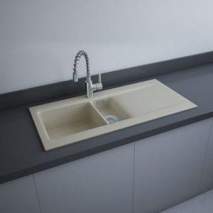 RAK Matt Greige Kitchen Sink