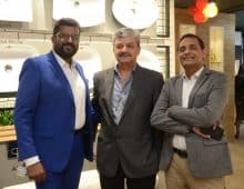 H&R Johnson Experience Centre mumbai - LtoR-Anoop Sreekumar-Head (Tiles Sales)-H&R Johnson (India), Pankaj Sharma-President (Johnson Bathrooms & Kitchens)-H&R Johnson (India), Sarat Chandak-ED & CEO-H&R Johnson