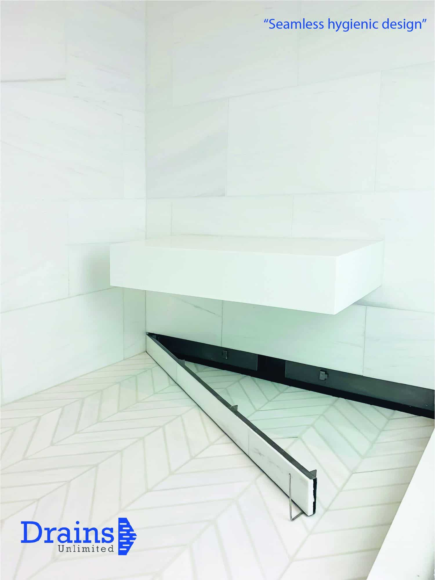 KBIS 2020 winners - DUW Series – Wall Recessed Linear Floor Drain by Drains Unlimited