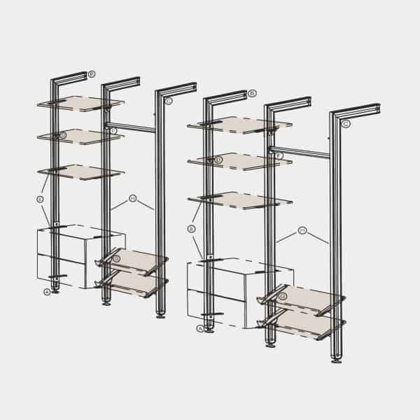 pole-shelving-system-Ebco Retail Display Systems