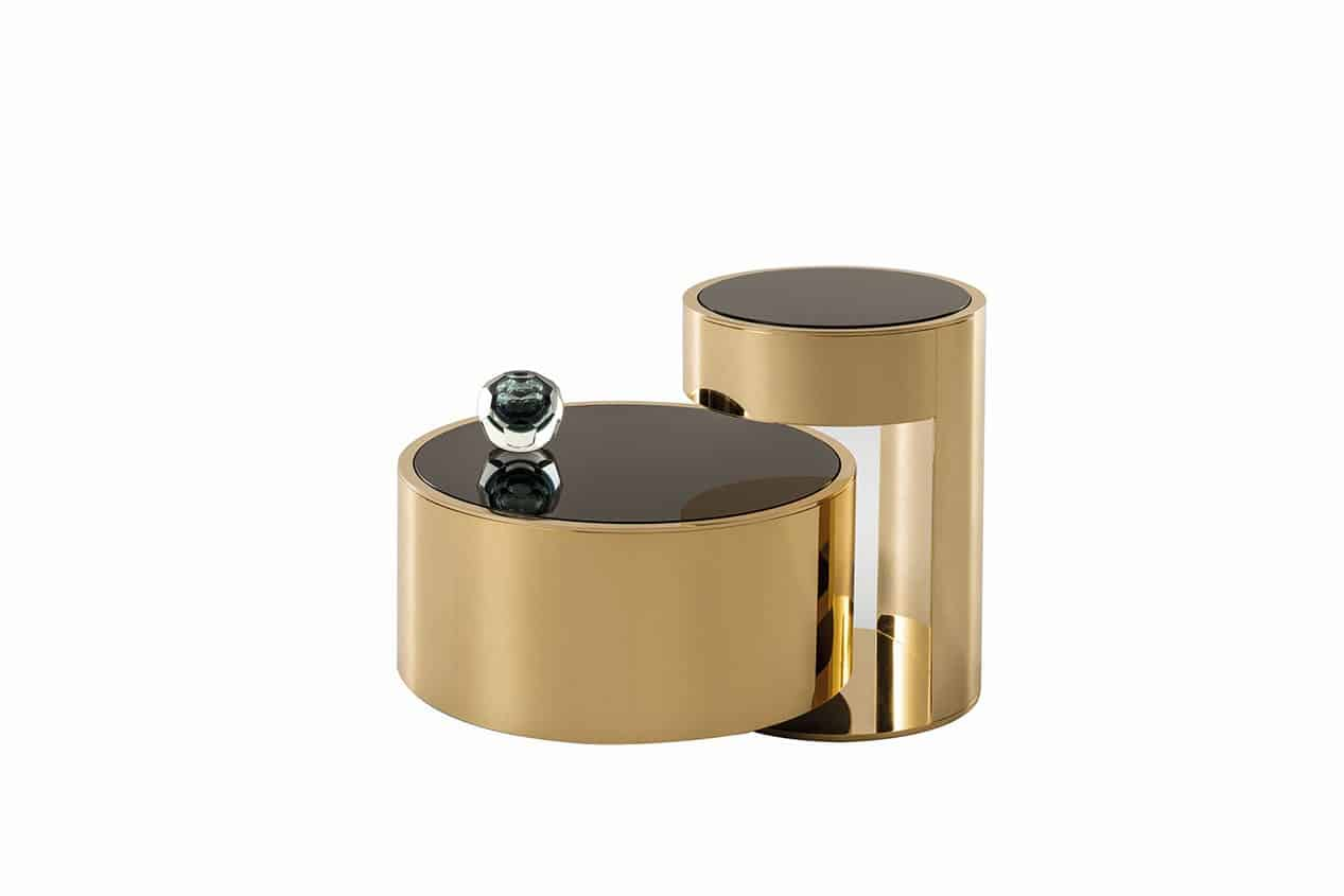 Designer furniture for living room - Fendi _Casa_constellation_coffee_table_gold