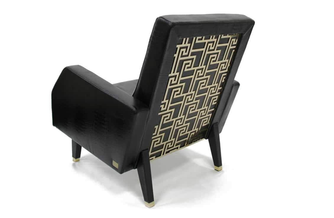Designer furniture for living room - Tital Lounge Chair - Versace