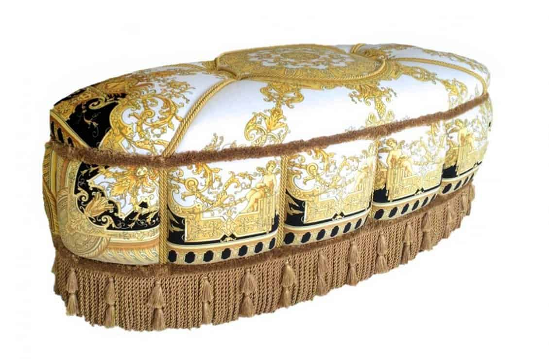 Designer furniture for living room - Versace - Salone Oval Ottoman - Pouff