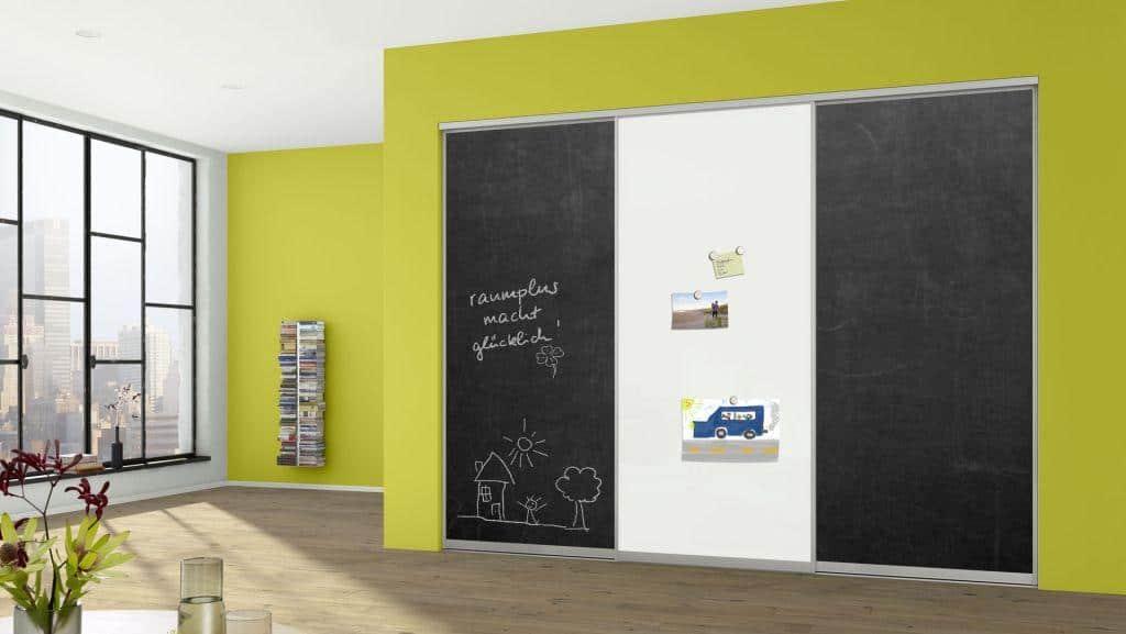 Sliding Doors Wardrobe Design _ door panel option- blackboard