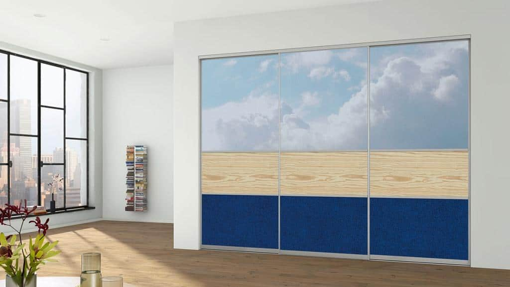 Sliding Doors Wardrobe Design _Materialmix_Digitaldruck_MilleniumNatur_Stoff_schmal