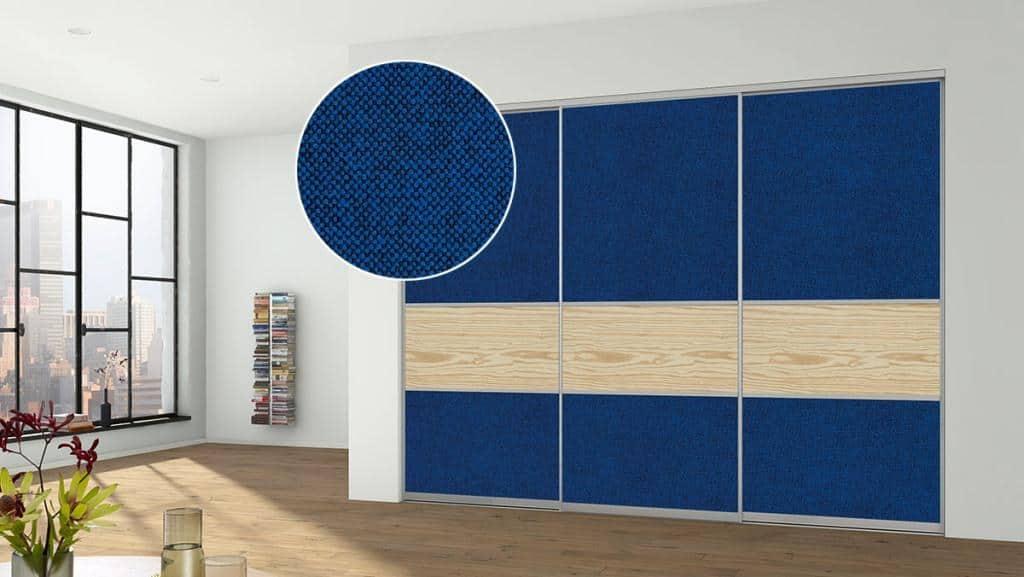 Sliding Doors Wardrobe Design _Materialmix_Stoff_MilleniumNatur_schmal