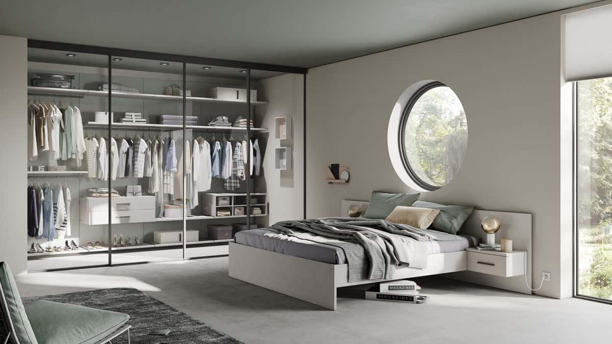Sliding Doors Wardrobe Design - walk-in closet