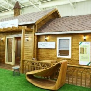 Safe.Durable. Fully Functional Wood Houses made with Canadian Wood. The big story at Indiawood 2020.